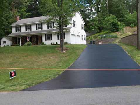 Newly Paved beautiful driveway